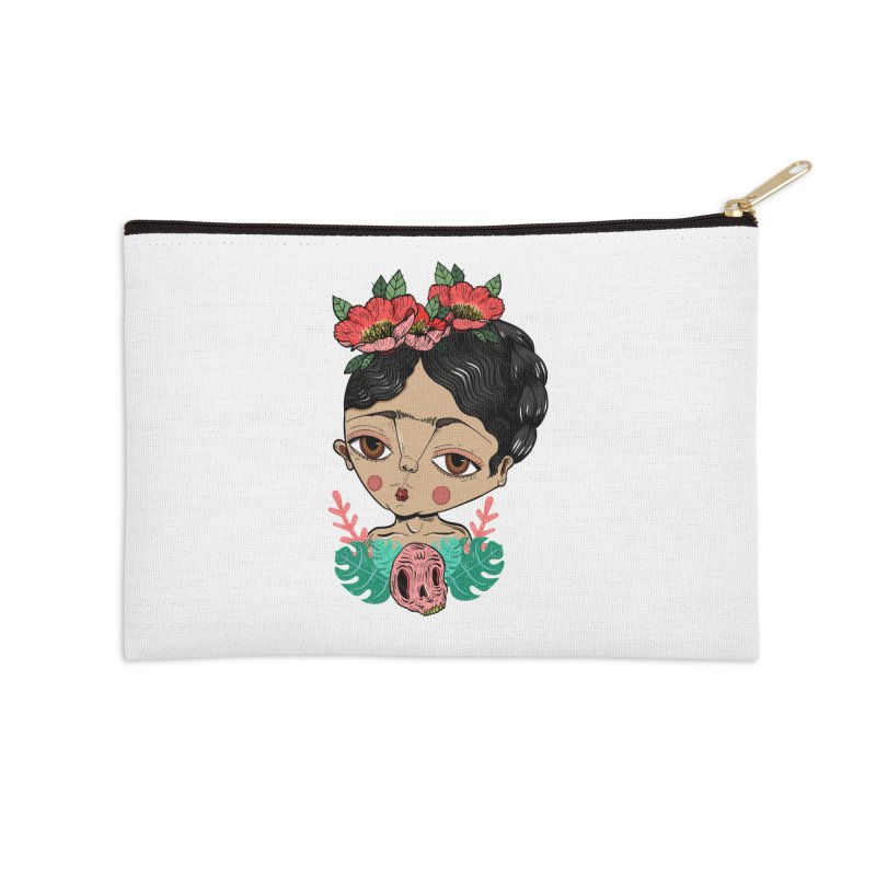 Viva Frida Accessories Zip Pouch by Valentina Zummo