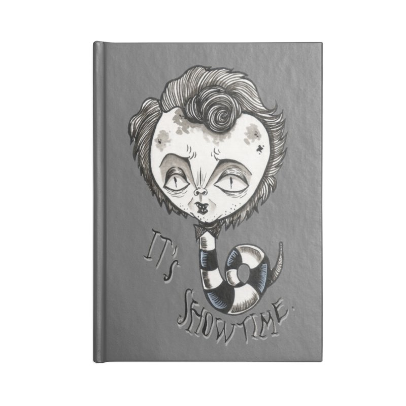 Beetlejuice - It's show time Accessories Lined Journal Notebook by Valentina Zummo