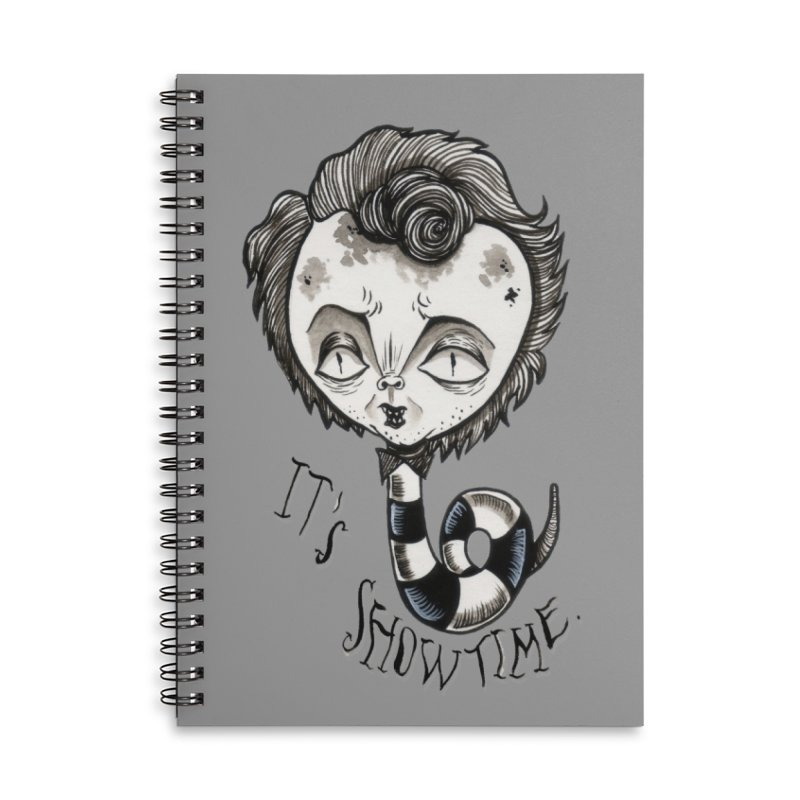 Beetlejuice - It's show time Accessories Lined Spiral Notebook by Valentina Zummo