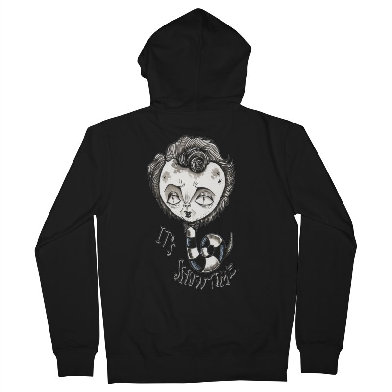 Beetlejuice - It's show time Women's French Terry Zip-Up Hoody by Valentina Zummo
