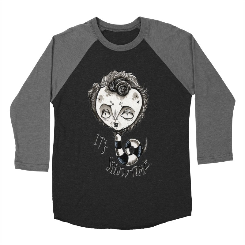 Beetlejuice - It's show time Women's Baseball Triblend Longsleeve T-Shirt by Valentina Zummo