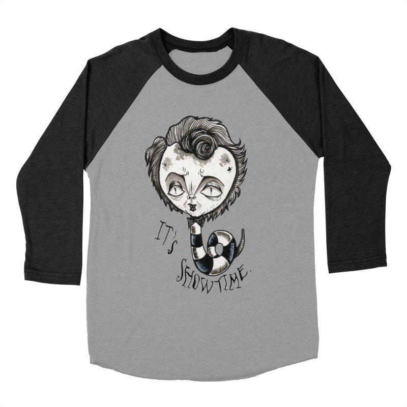 Beetlejuice - It's show time Women's Baseball Triblend Longsleeve T-Shirt by Valentina Zummo