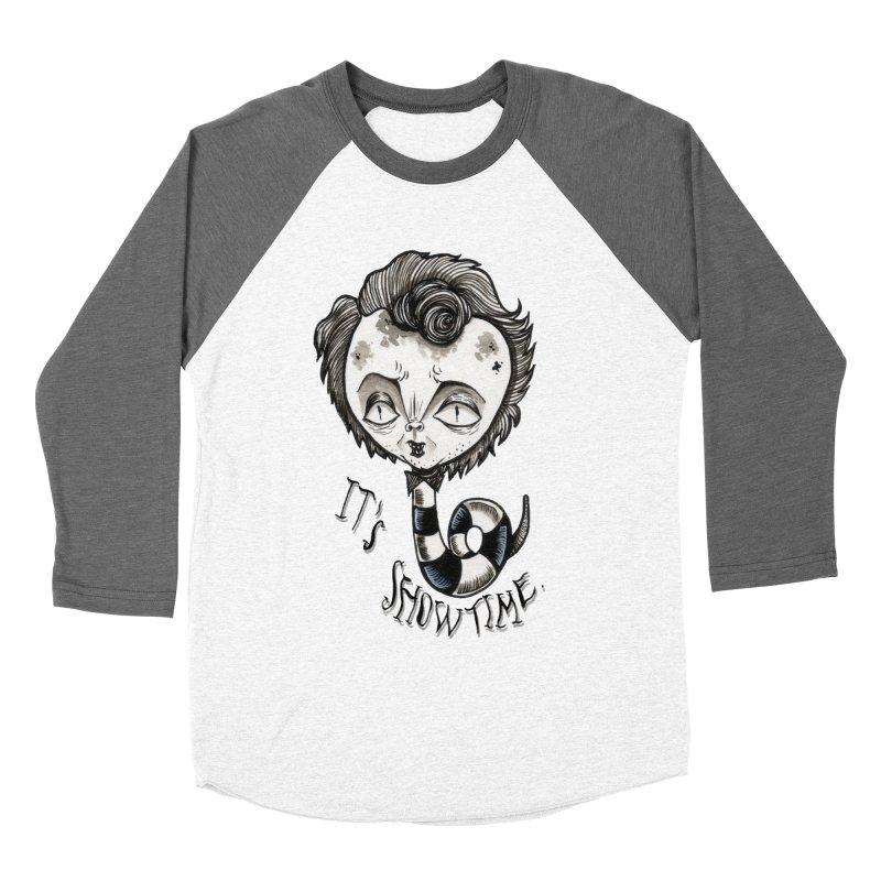Beetlejuice - It's show time Men's Baseball Triblend Longsleeve T-Shirt by Valentina Zummo