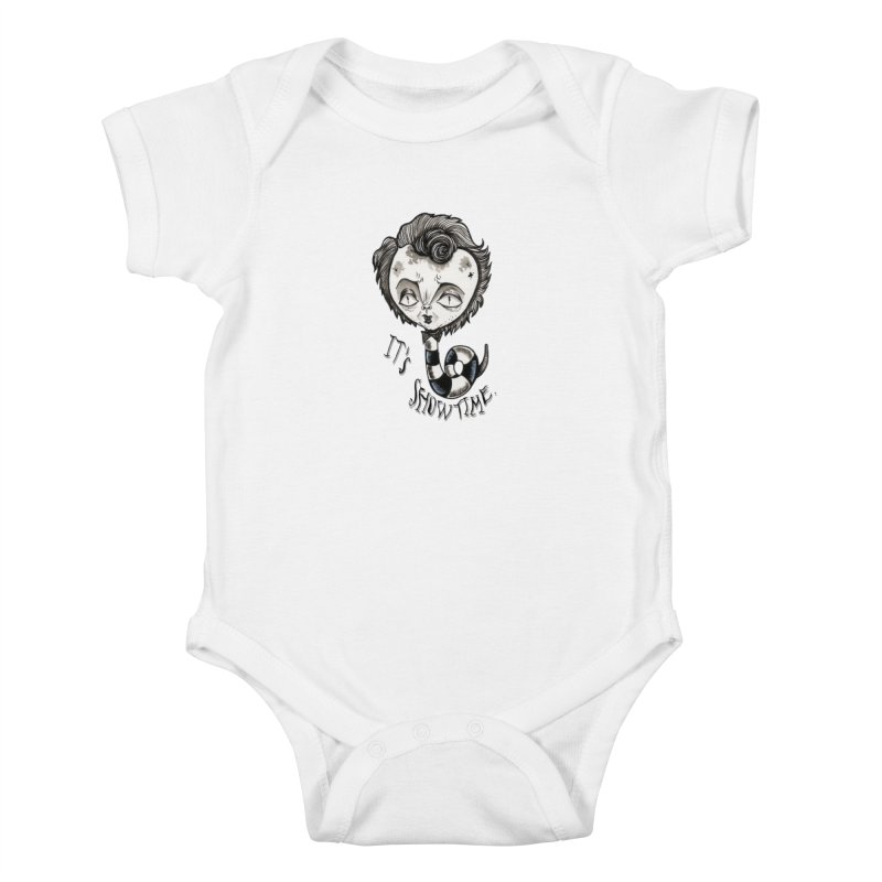 Beetlejuice - It's show time Kids Baby Bodysuit by Valentina Zummo