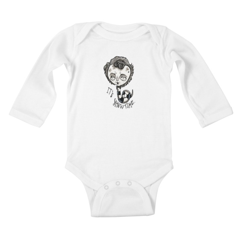 Beetlejuice - It's show time Kids Baby Longsleeve Bodysuit by Valentina Zummo