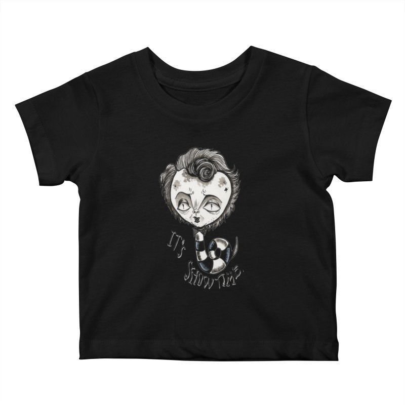 Beetlejuice - It's show time Kids Baby T-Shirt by Valentina Zummo