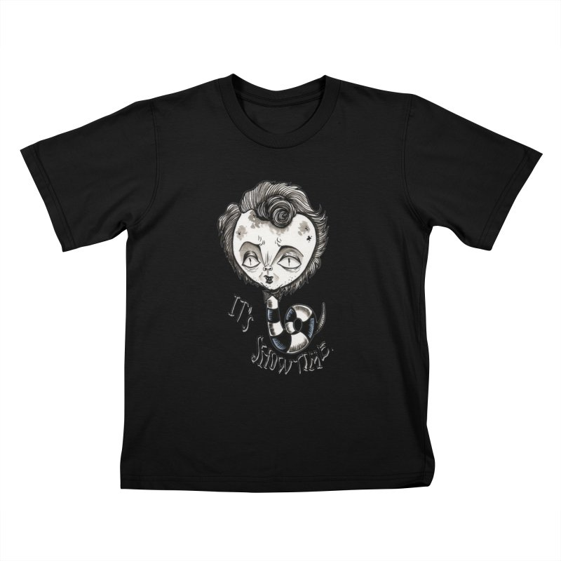Beetlejuice - It's show time Kids T-Shirt by Valentina Zummo