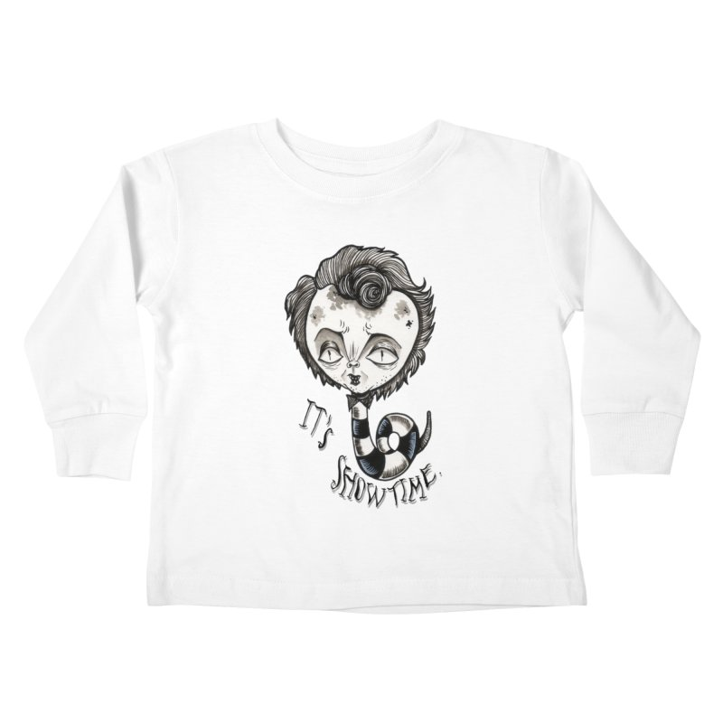 Beetlejuice - It's show time Kids Toddler Longsleeve T-Shirt by Valentina Zummo