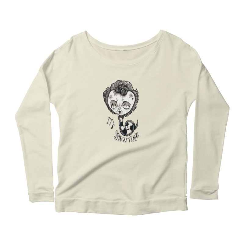 Beetlejuice - It's show time Women's Scoop Neck Longsleeve T-Shirt by Valentina Zummo