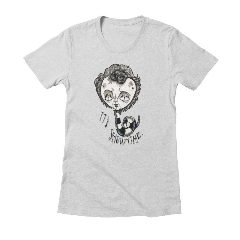 Beetlejuice - It's show time Women's Fitted T-Shirt by Valentina Zummo