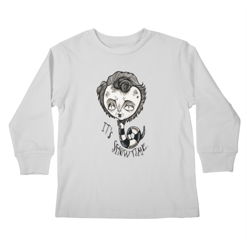 Beetlejuice - It's show time Kids Longsleeve T-Shirt by Valentina Zummo