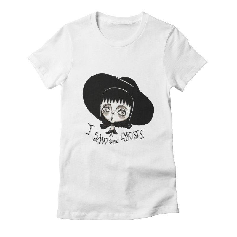 Lydia Deetz Women's Fitted T-Shirt by Valentina Zummo