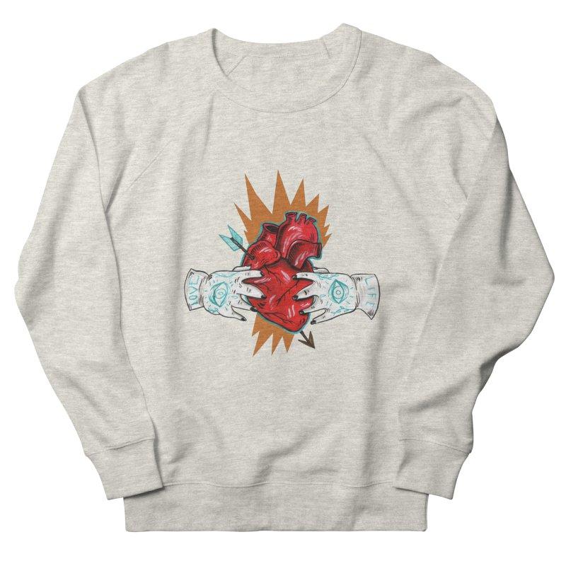 My Heart Women's French Terry Sweatshirt by Valentina Zummo
