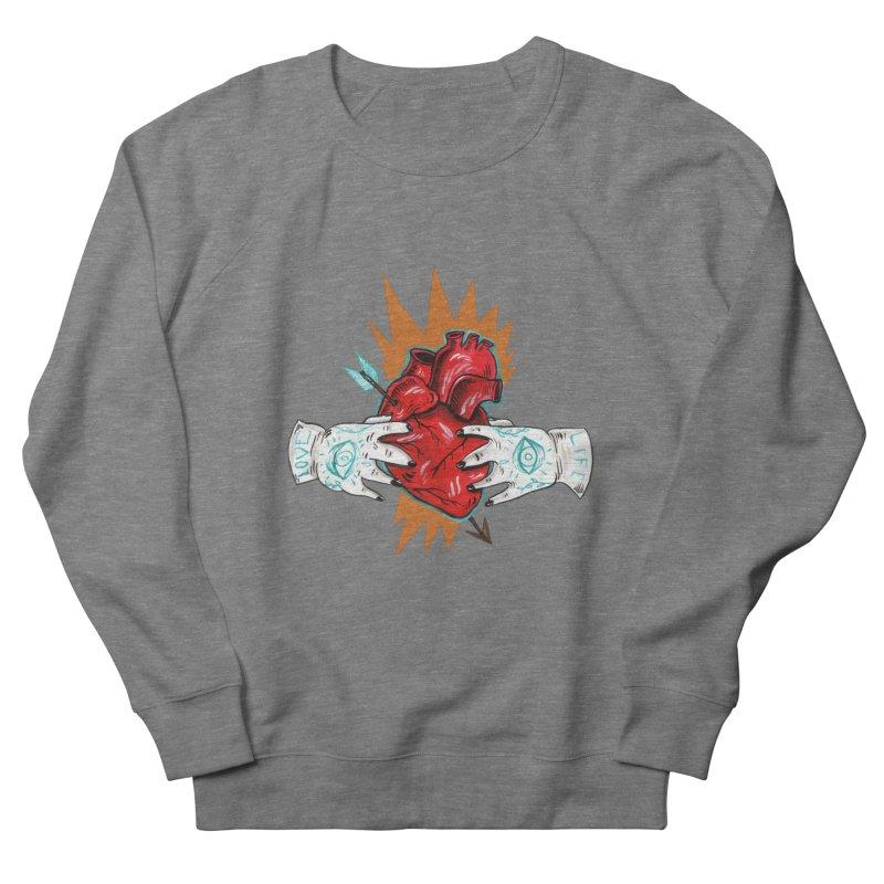 My Heart Men's French Terry Sweatshirt by Valentina Zummo