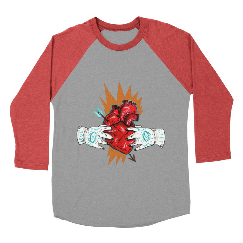 My Heart Women's Baseball Triblend Longsleeve T-Shirt by Valentina Zummo