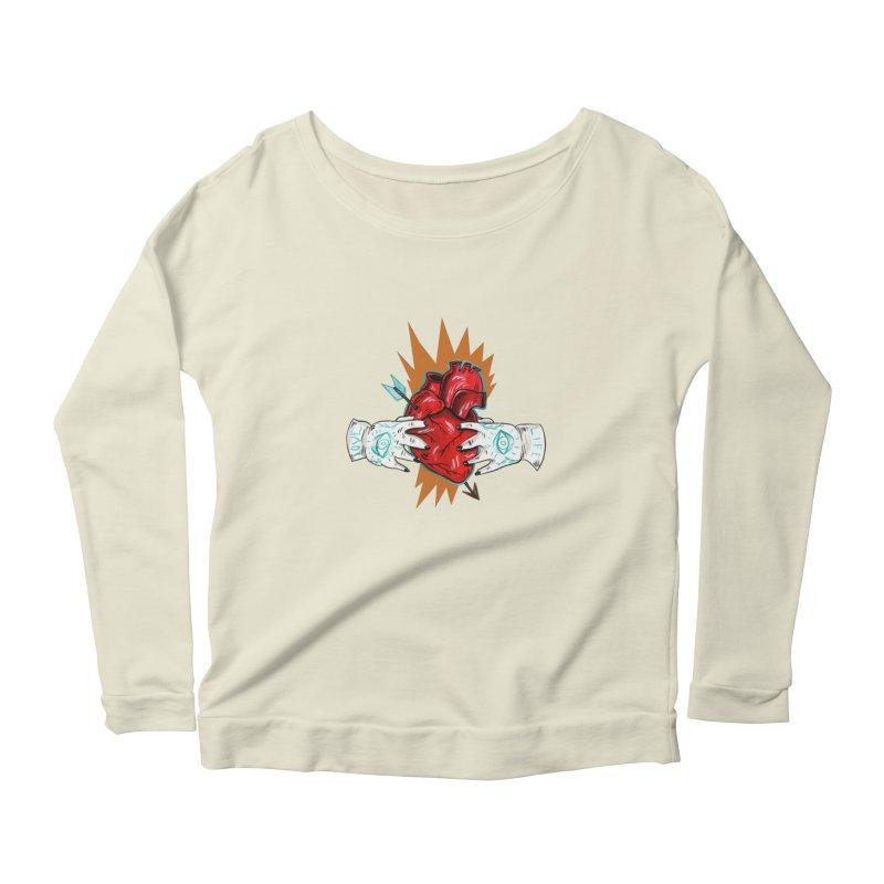 My Heart Women's Scoop Neck Longsleeve T-Shirt by Valentina Zummo