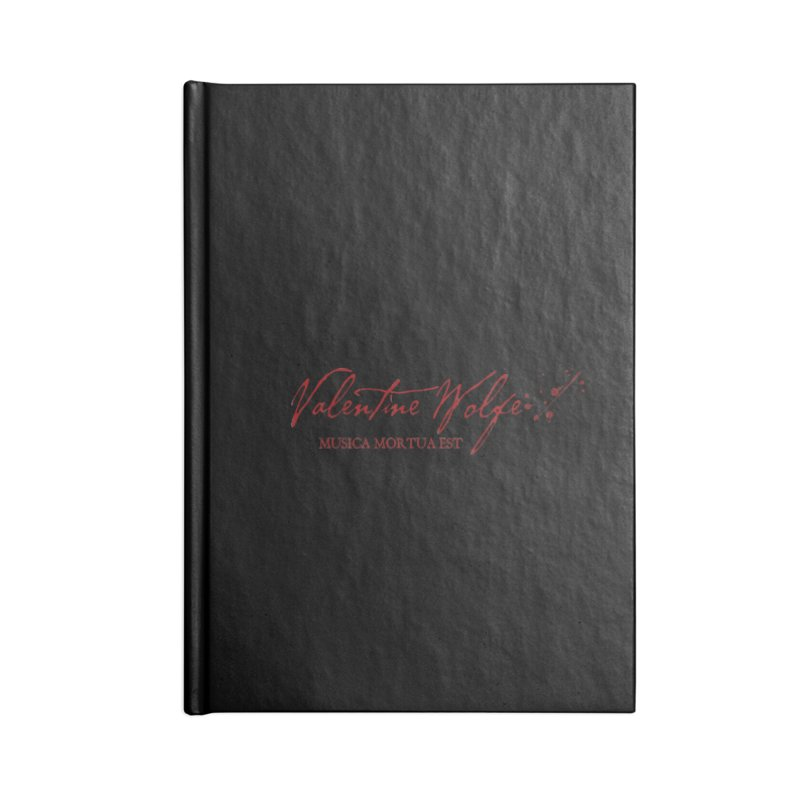 Musica Mortua Est Accessories Notebook by Valentine Wolfe Artist Shop