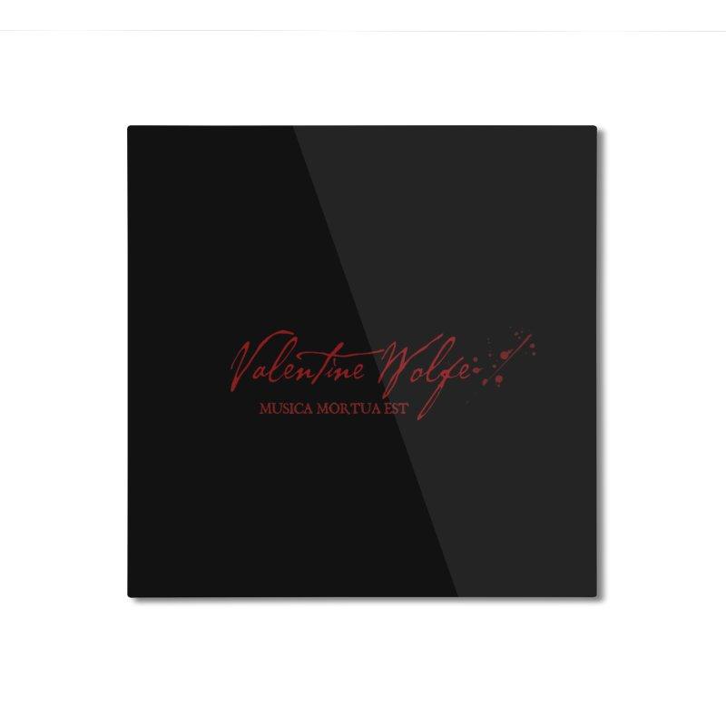 Musica Mortua Est Home Mounted Aluminum Print by Valentine Wolfe Artist Shop