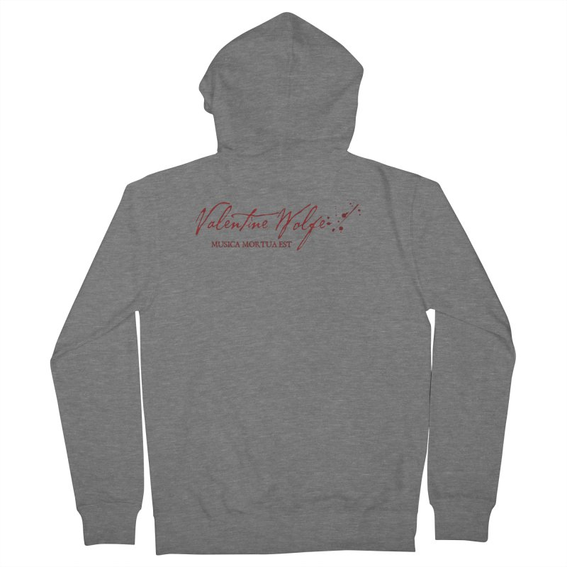 Musica Mortua Est Women's Zip-Up Hoody by Valentine Wolfe Artist Shop