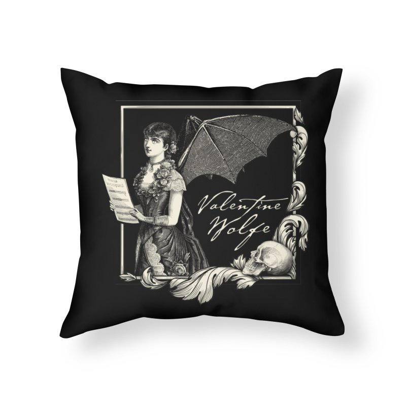 Siren Song Home Throw Pillow by Valentine Wolfe Artist Shop