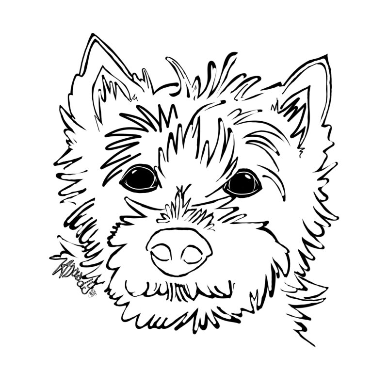 Cairn Terrier Love by ValArtist's Shop