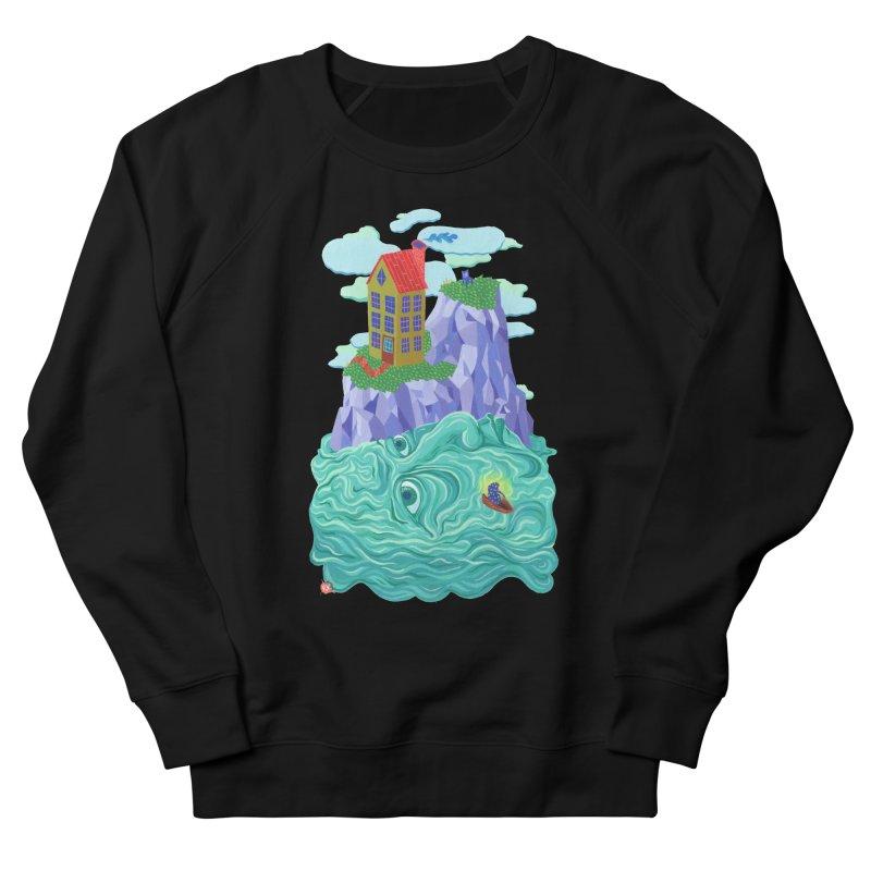 Oceanman Men's French Terry Sweatshirt by Valeriya Volkova