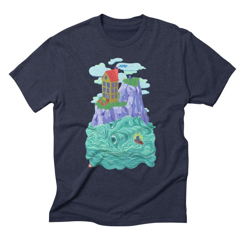 Oceanman Men's Triblend T-Shirt by Valeriya Volkova
