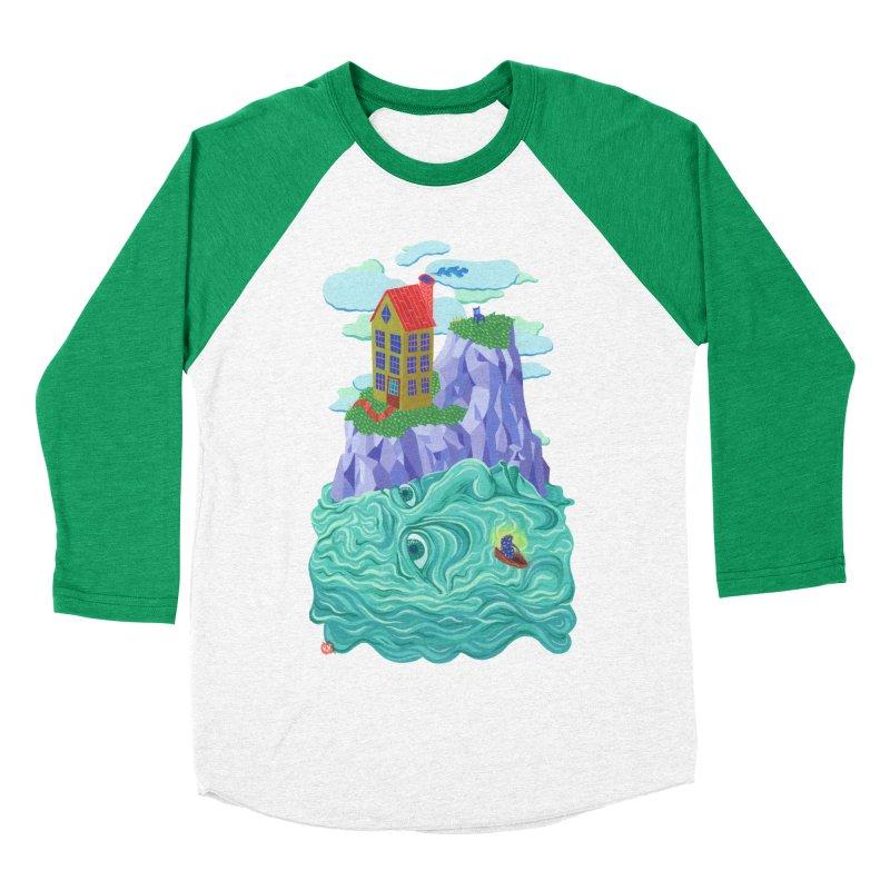 Oceanman Women's Baseball Triblend Longsleeve T-Shirt by Valeriya Volkova