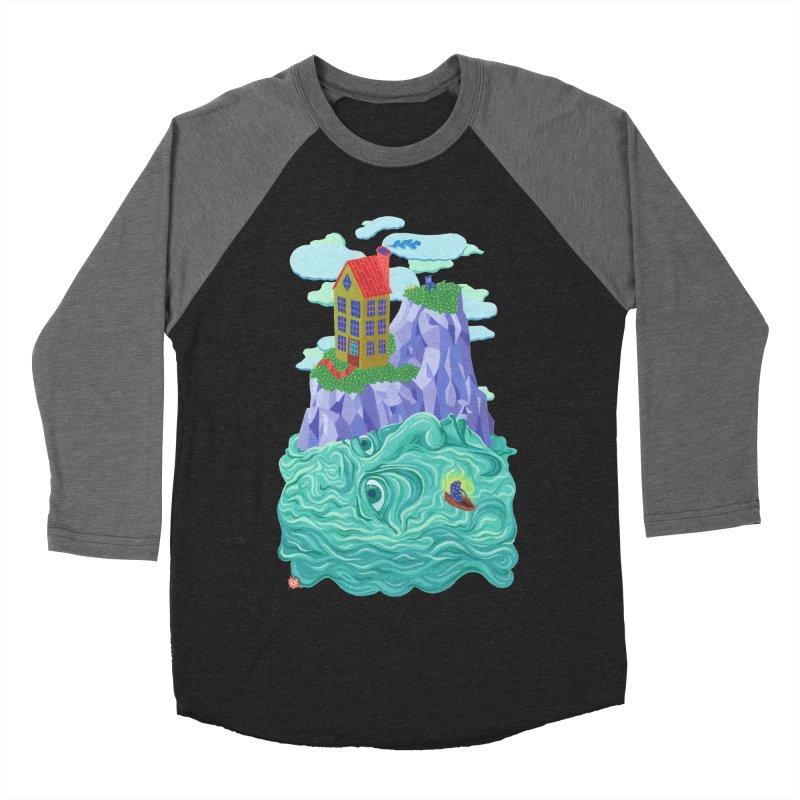 Oceanman Men's Baseball Triblend Longsleeve T-Shirt by Valeriya Volkova
