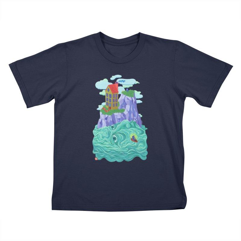 Oceanman Kids T-Shirt by Valeriya Volkova