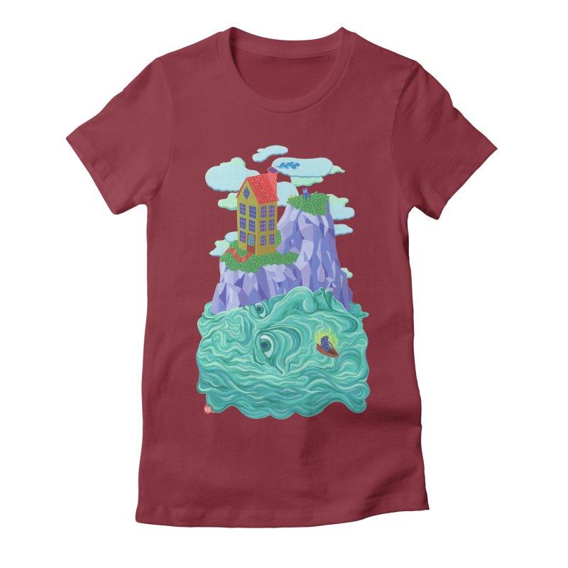 Oceanman Women's Fitted T-Shirt by Valeriya Volkova