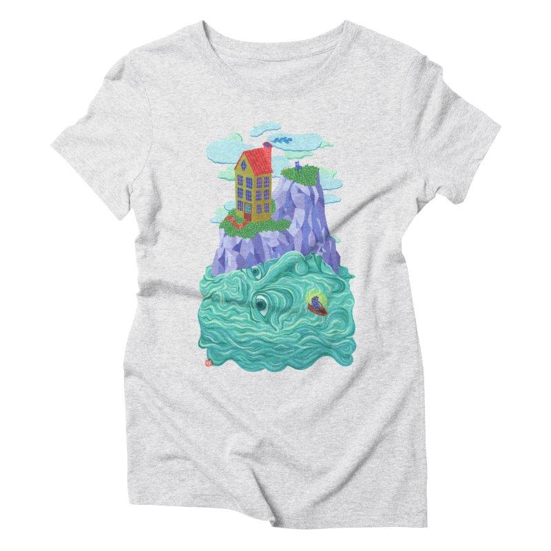 Oceanman Women's Triblend T-Shirt by Valeriya Volkova