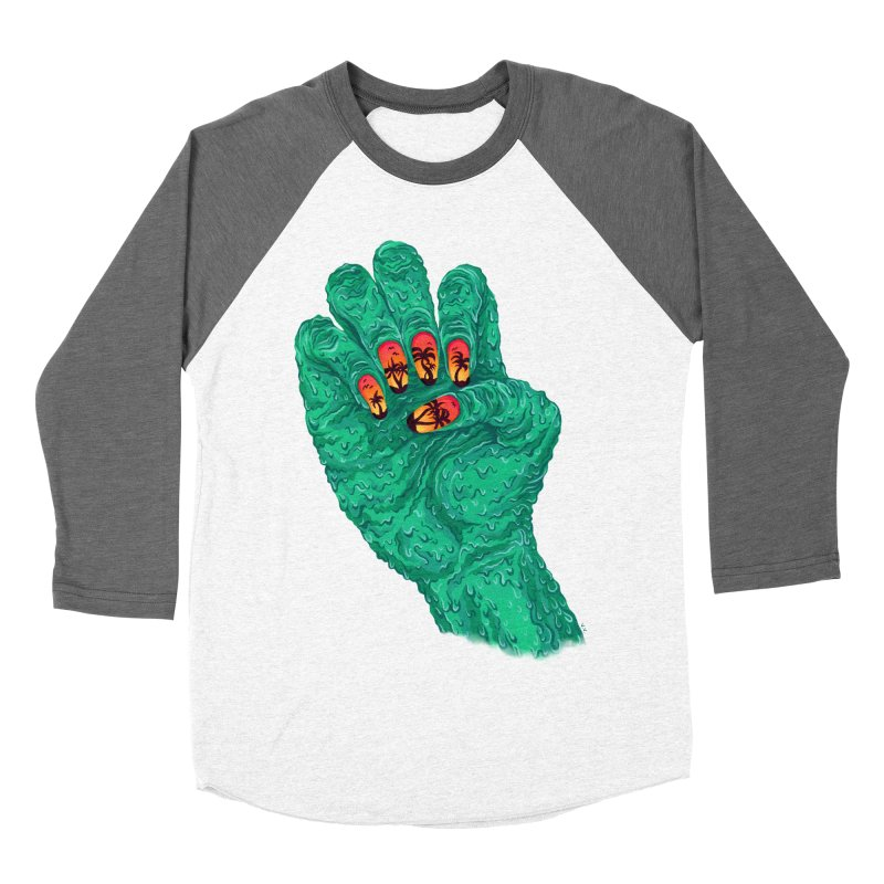 Sunset Manicure Men's Baseball Triblend Longsleeve T-Shirt by Valeriya Volkova