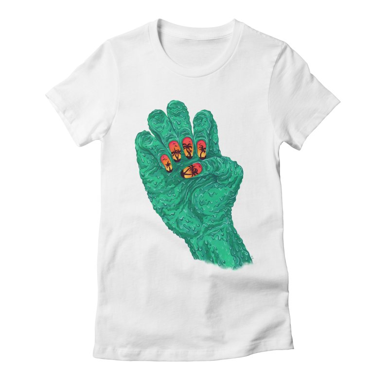 Sunset Manicure Women's Fitted T-Shirt by Valeriya Volkova