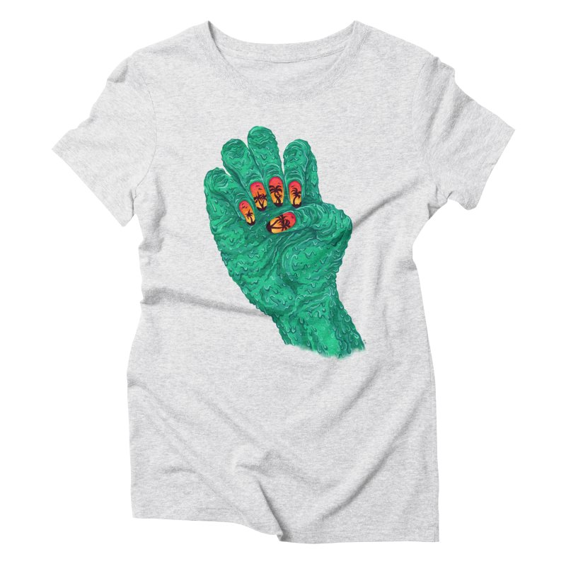 Sunset Manicure Women's Triblend T-Shirt by Valeriya Volkova