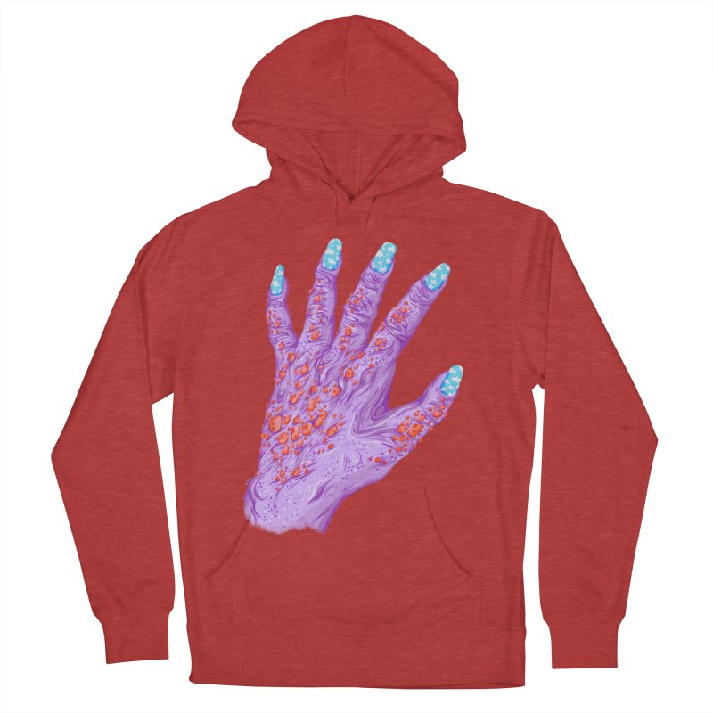 Cloudy Manicure Men's French Terry Pullover Hoody by Valeriya Volkova