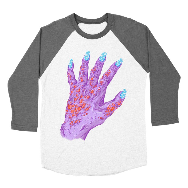 Cloudy Manicure Women's Baseball Triblend Longsleeve T-Shirt by Valeriya Volkova