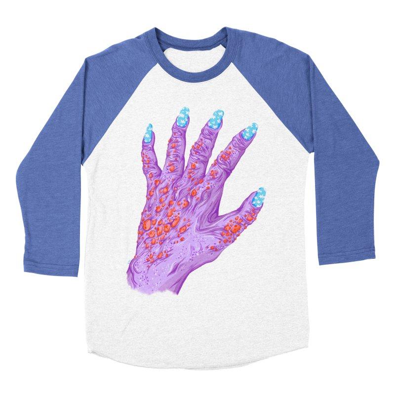 Cloudy Manicure Men's Baseball Triblend Longsleeve T-Shirt by Valeriya Volkova