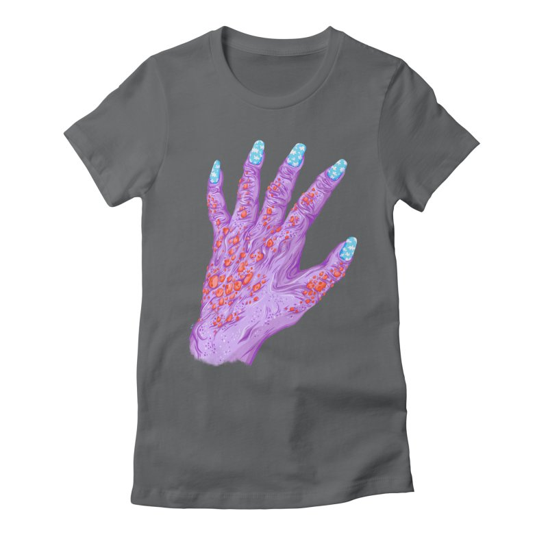 Cloudy Manicure Women's Fitted T-Shirt by Valeriya Volkova