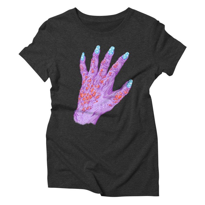 Cloudy Manicure Women's Triblend T-Shirt by Valeriya Volkova