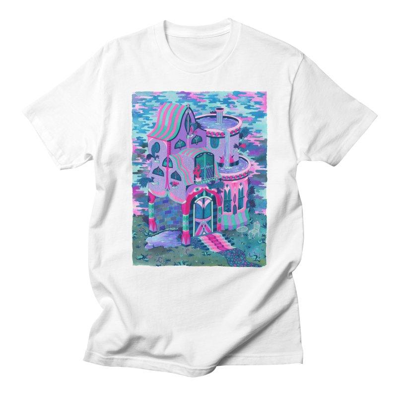 Bertram's House in Men's Regular T-Shirt White by Valeriya Volkova