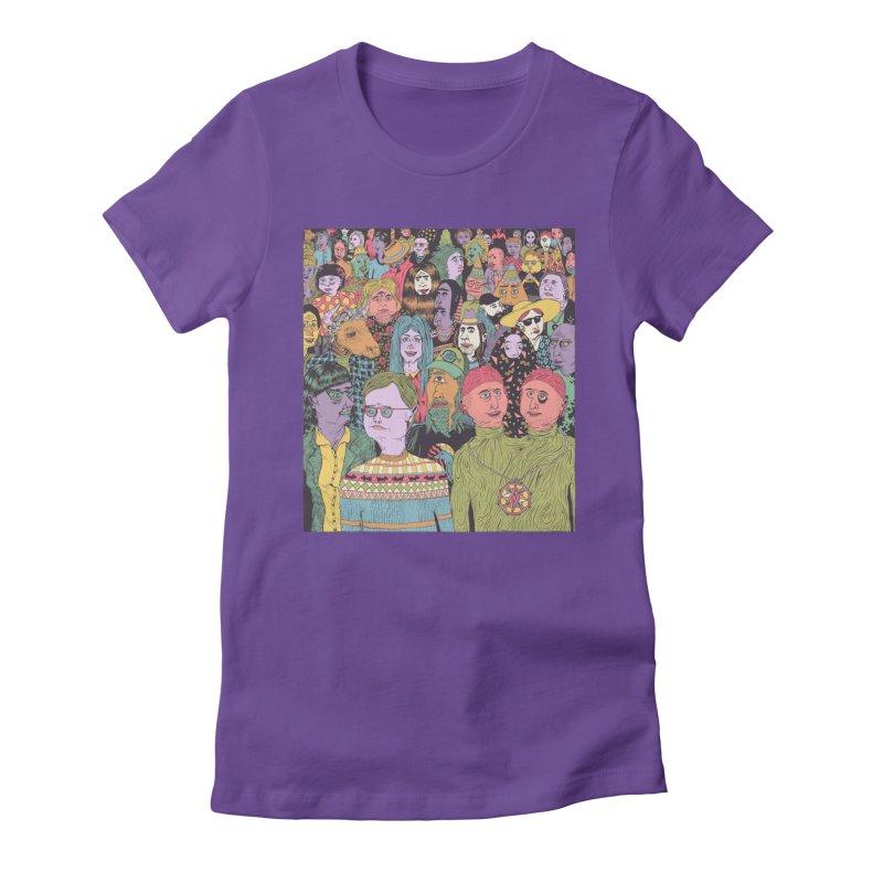 Gathering Women's Fitted T-Shirt by Valeriya Volkova