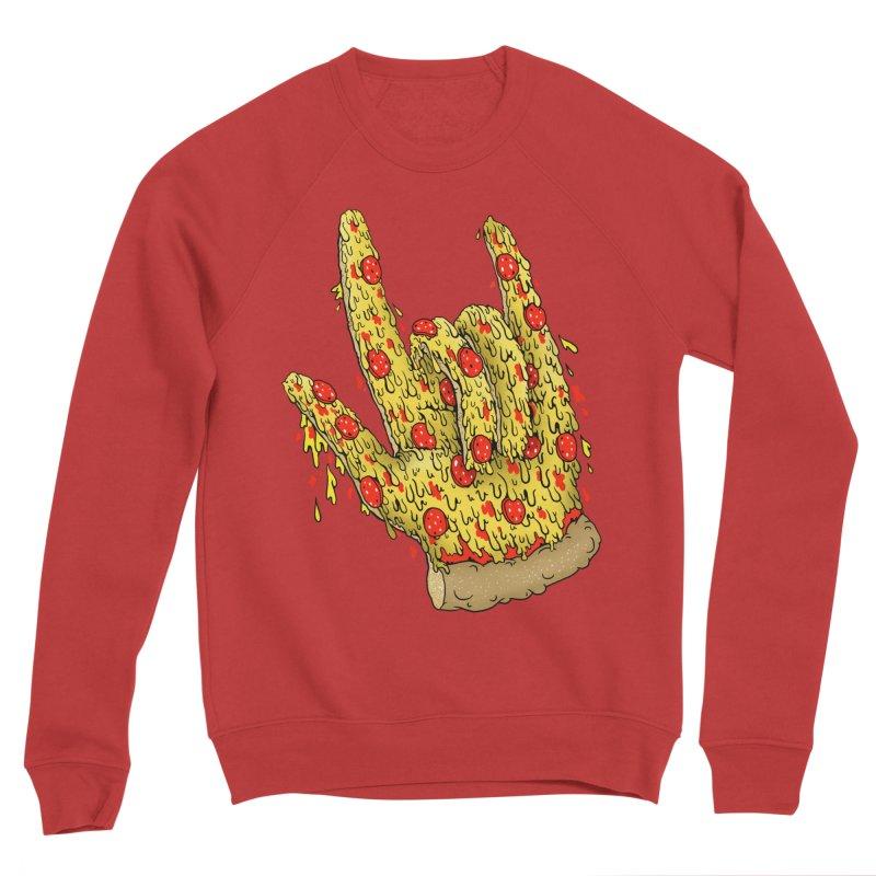 Pizza Hand Women's Sponge Fleece Sweatshirt by Valeriya Volkova