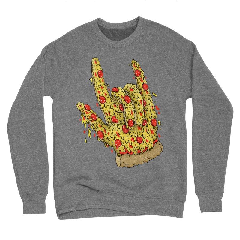 Pizza Hand Men's Sponge Fleece Sweatshirt by Valeriya Volkova