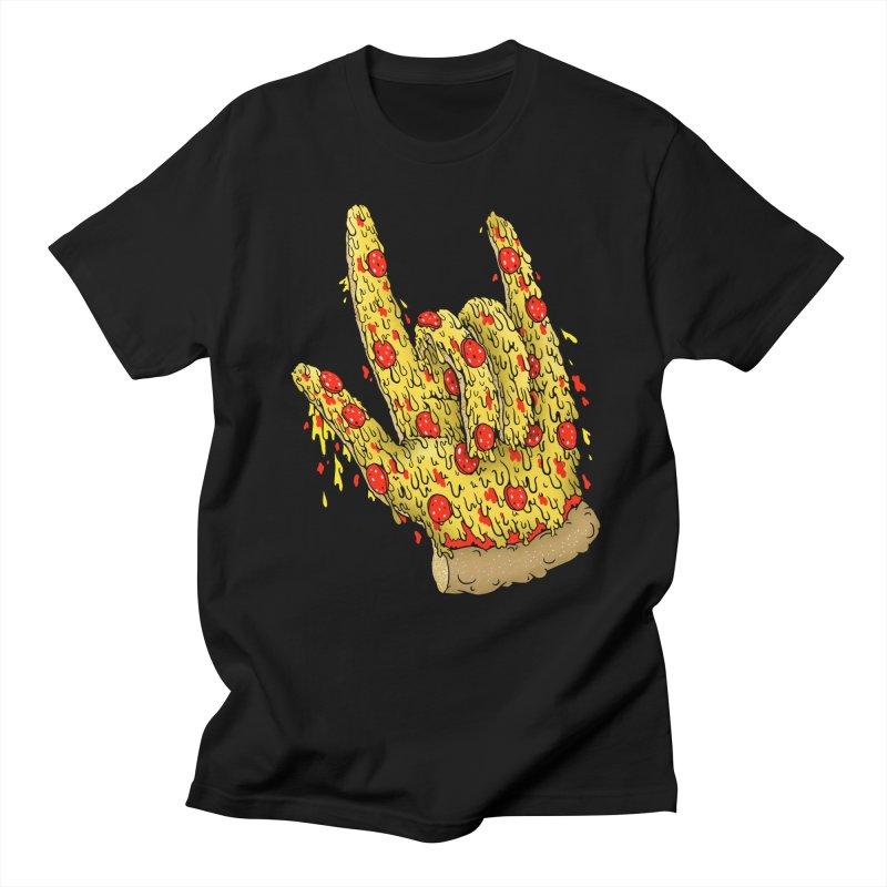 Pizza Hand Men's Regular T-Shirt by Valeriya Volkova