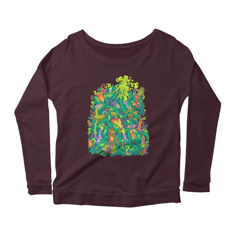 Nug House Women's Scoop Neck Longsleeve T-Shirt by Valeriya Volkova