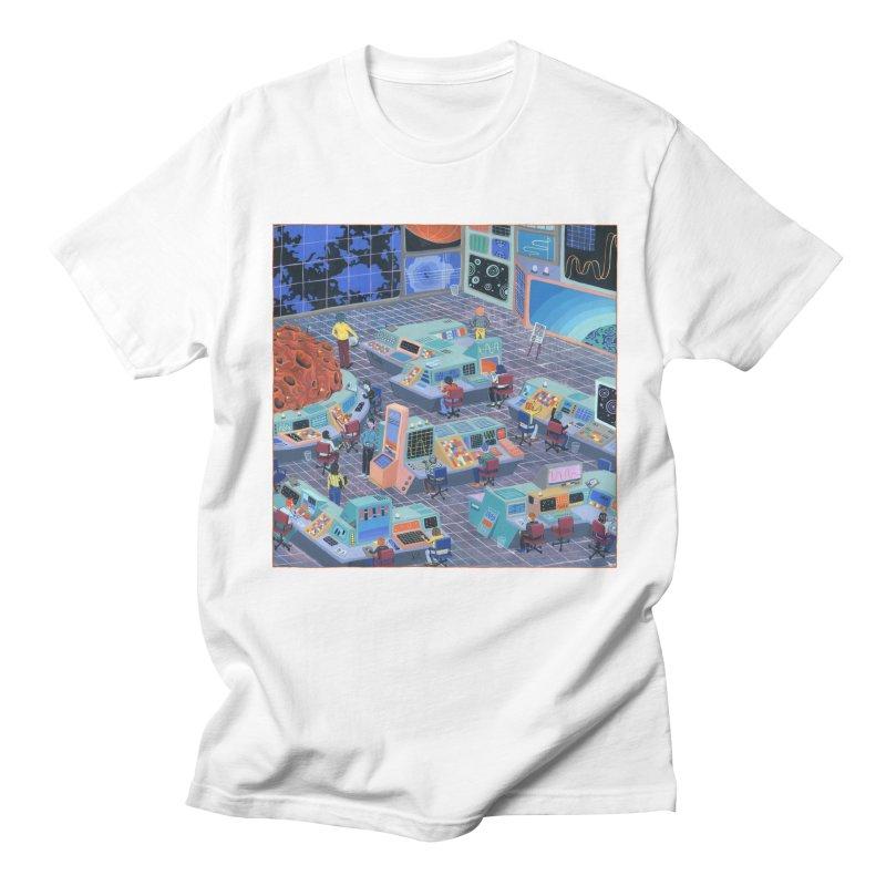 Command Center Men's Regular T-Shirt by Valeriya Volkova