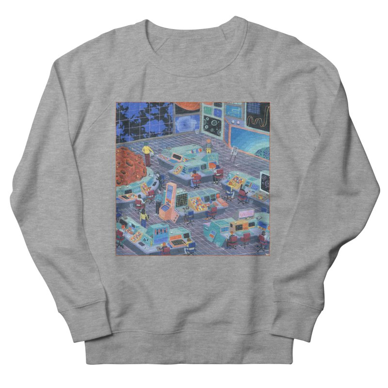 Command Center Men's French Terry Sweatshirt by Valeriya Volkova