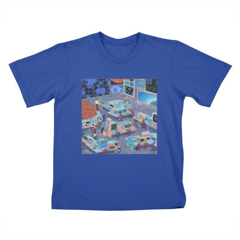 Command Center Kids T-Shirt by Valeriya Volkova
