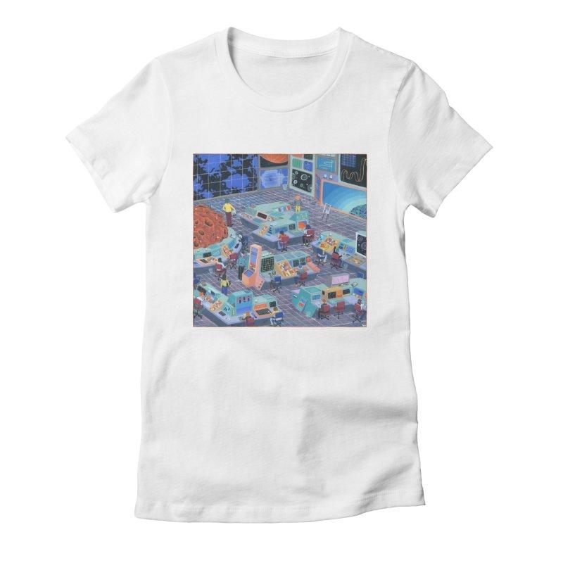 Command Center Women's Fitted T-Shirt by Valeriya Volkova